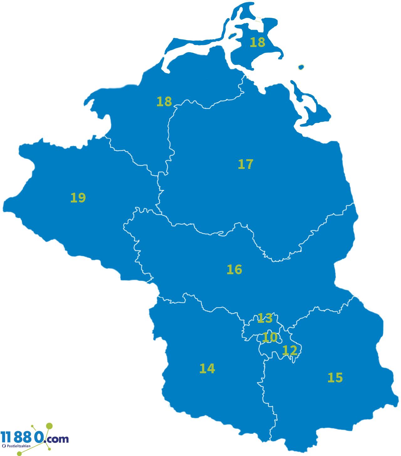 Bundesländer plz der PLZ