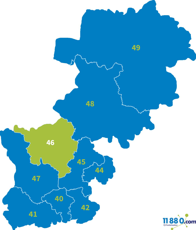 PLZ 46 - Postleitzahl Bereich 46 » postleitzahlen.de