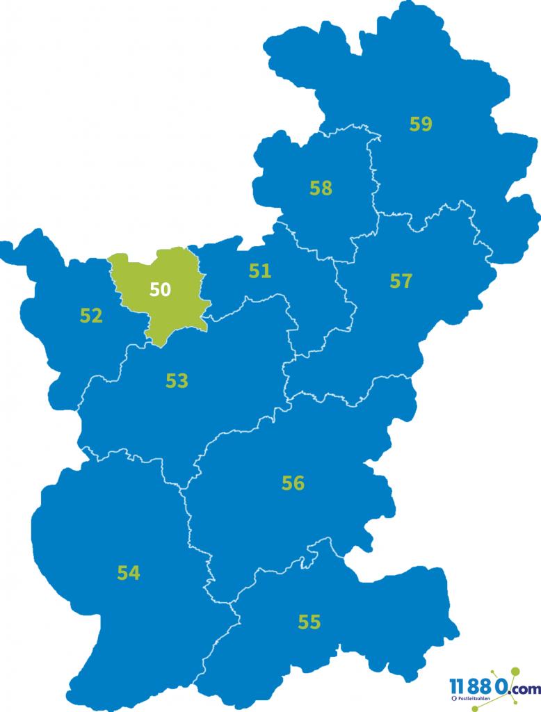 PLZ Bereich 50