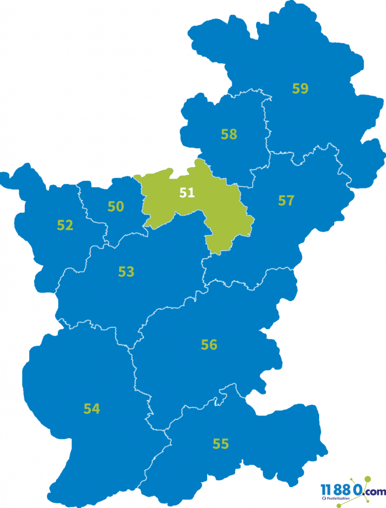 PLZ Bereich 51