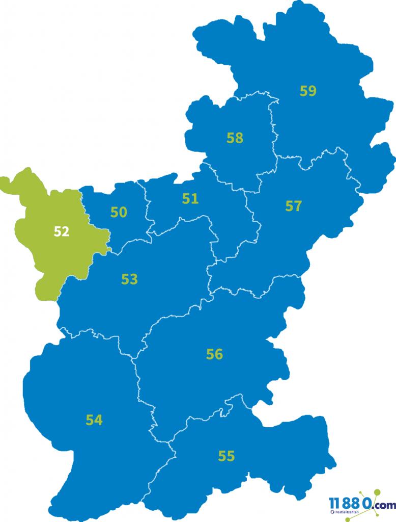 PLZ Bereich 52