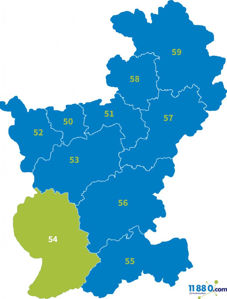 PLZ Bereich 54