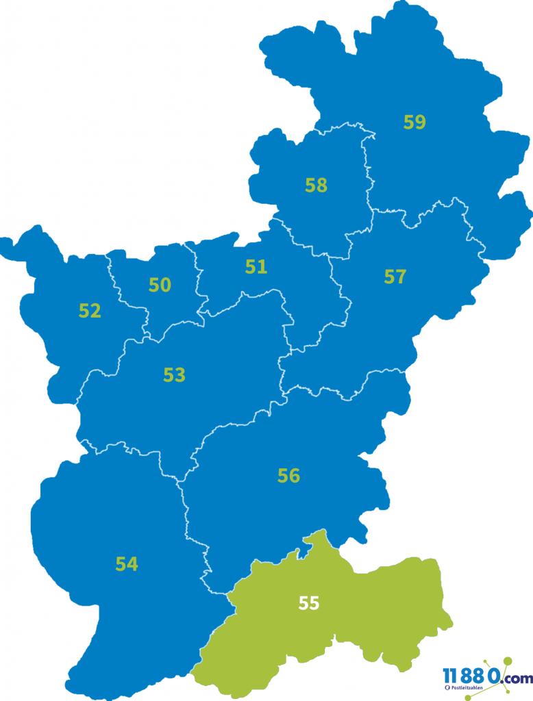 PLZ Bereich 55