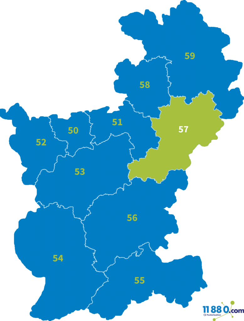 PLZ Bereich 57