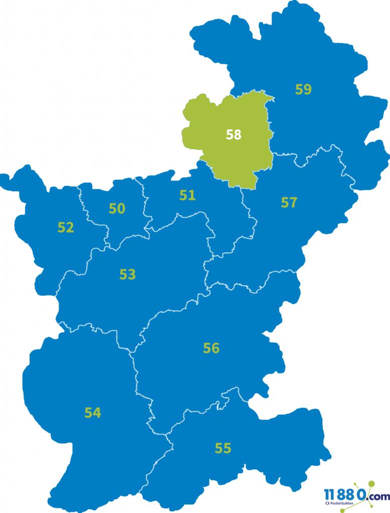PLZ Bereich 58