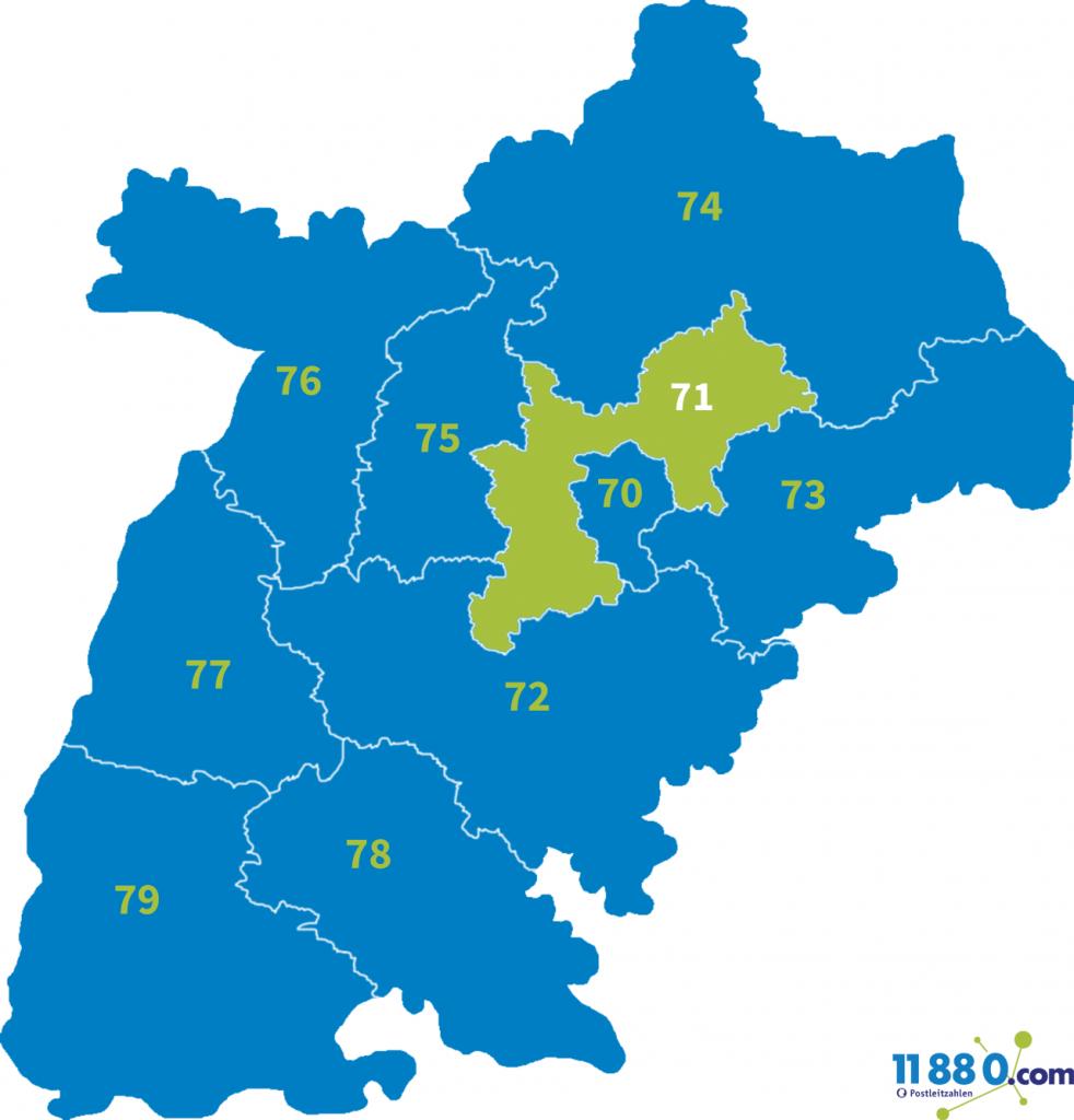 PLZ Bereich 71