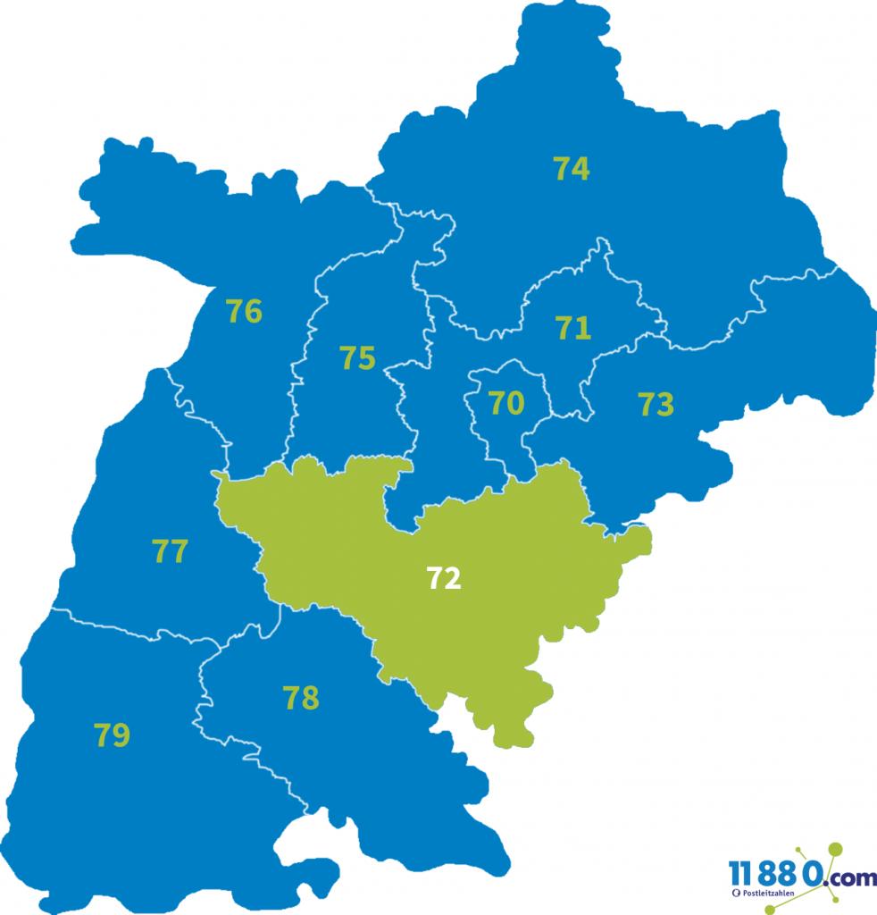 PLZ Bereich 72