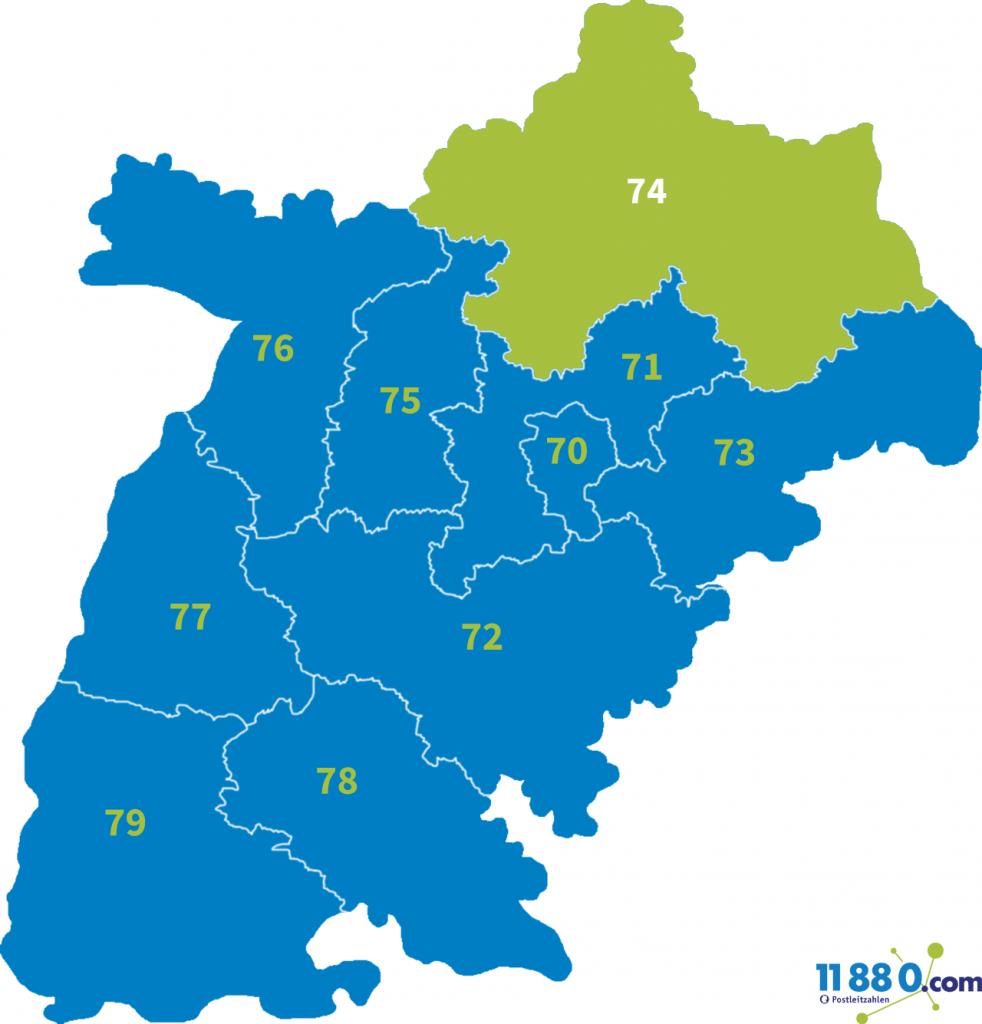PLZ Bereich 74
