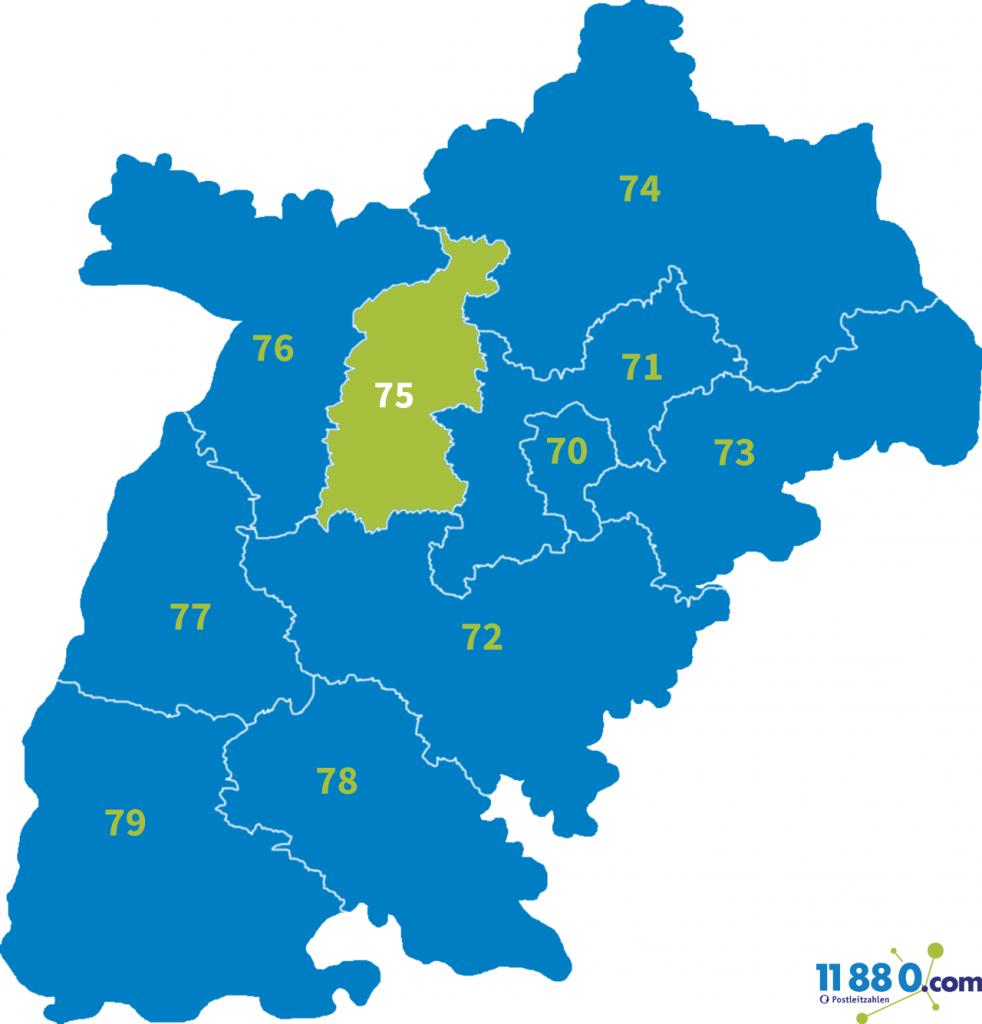 PLZ Bereich 75
