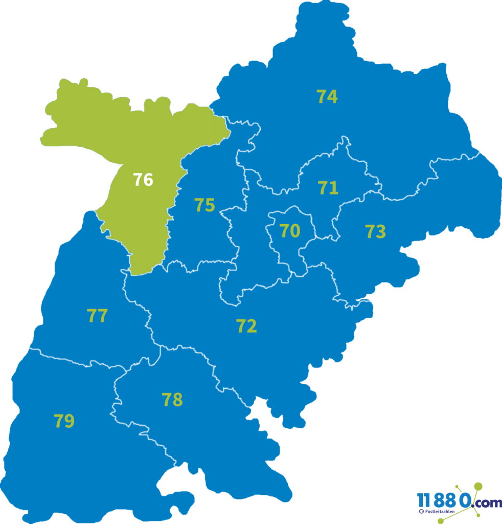 PLZ Bereich 76