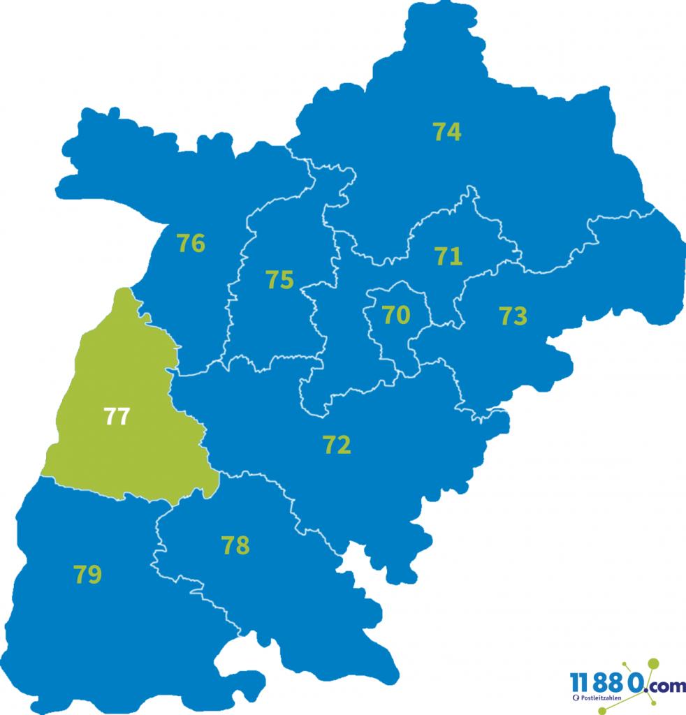 PLZ Bereich 77