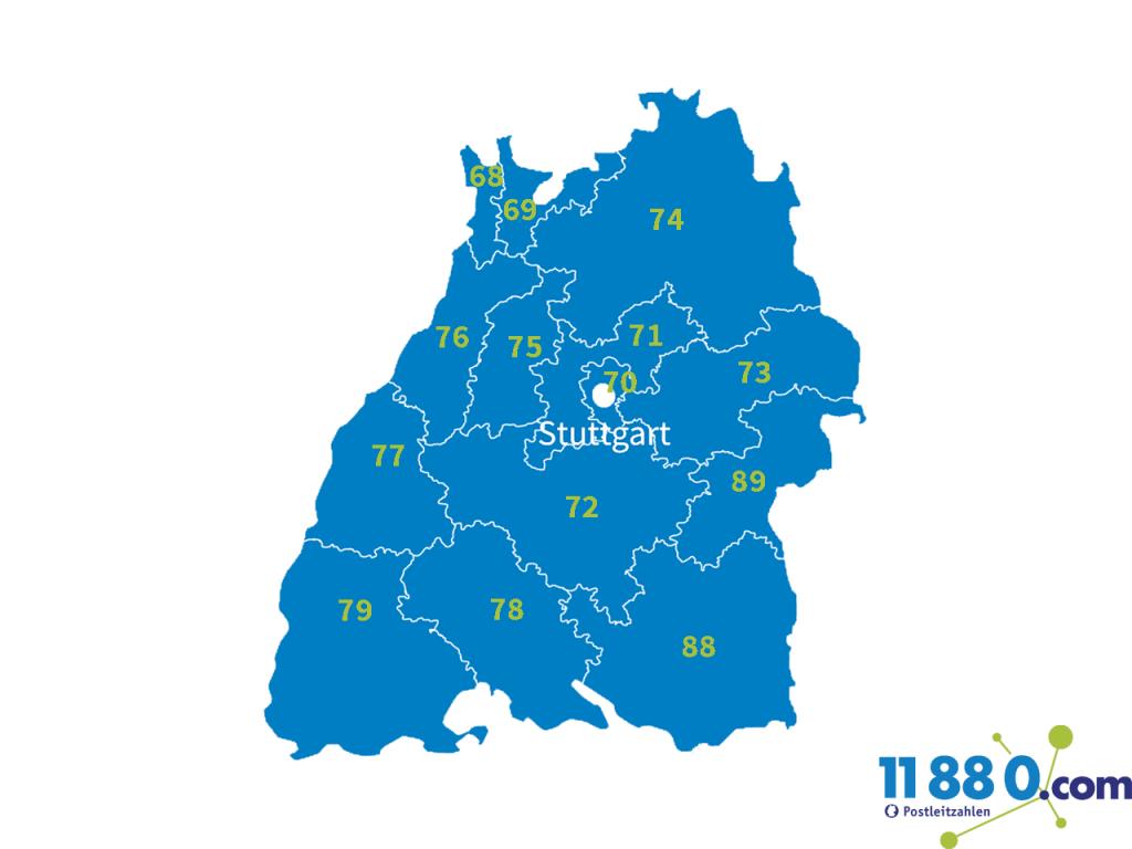 PLZ Baden-Wuerttemberg