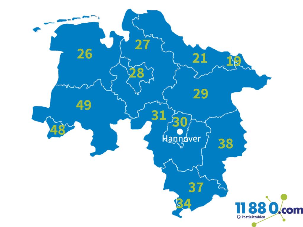 PLZ Niedersachsen