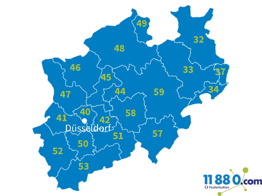 PLZ Nordrhein-Westfalen