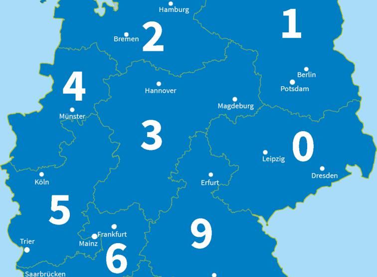Plz Karte Deutschland Kostenlos Download.Plz Bereiche Postleitzahlen De